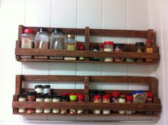 A home made spice rack made out of pallets!!!!