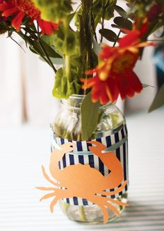 crab boil party decoration ideas | Nautical Crab Inspired Baby Shower // Hostess with the Mostess®