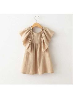 Boho style summer tunic shirt dress beige