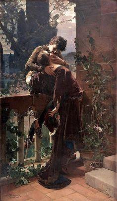 Julius Kronberg | 1850-1921, Sweden | Romeo and Juliet