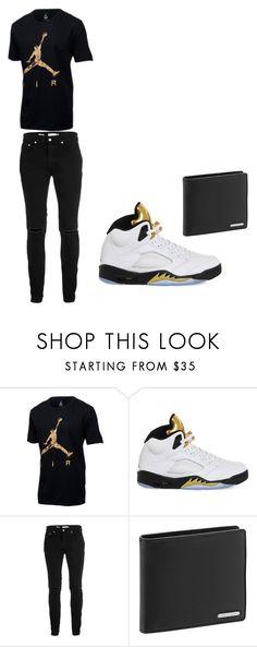 """Jordans"" by darkangle2725 on Polyvore featuring NIKE, Topman, Porsche Design, men's fashion and menswear"