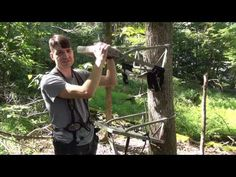 How to Set Up a Climbing Tree Stand - YouTube