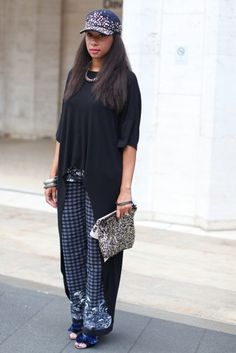 nyfw ss13, fashion, style, cap, accessories, black women inspiration, oversized clothing, cute outfit