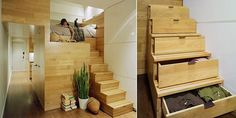 Drawer steps. great for a loft!