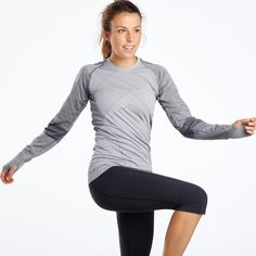 Meet your seamless long sleeve must have for Fall 2015. The Flyte 2000 Long Sleeve is made for your inner warrior. Power patterns in sharp geometric lines wrap you in wicking, fitted but never clingy seamless armour.Pull on for your toughest work