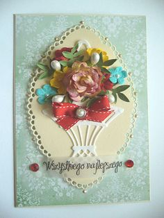 Lovely Floral Bouquet Birthday Card... Scrapbook.com.