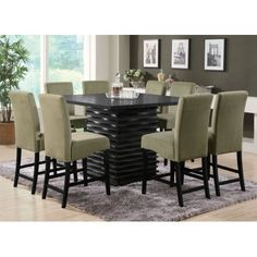 Modern Counter Height Dining Table Set With Brilliant Brownville Design Photos Patio Bar Set, Pub Table Sets, Dining Room Sets, Dining Room Furniture, Bar Tables, Bathroom Furniture, Furniture Sale, Furniture Decor, Outdoor Furniture