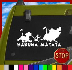 Lion King Inspired Hakuna Matata Sticker Decal Any by SignStop, $2.99