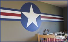 """could do giant """"Y"""" for BYU instead of star and write fight song in border...boys playroom"""