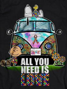 ☮ American Hippie ☮ Peanuts … Beatles – All You Need Is Love - Clockwork.