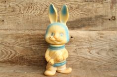 bunny ... rubber toy ... hare ... vintage USSR ... rabbit ... Soviet Union ... child ... baby    This beautiful toy has come to us from the