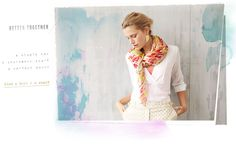 it says so faintly...but its perfect: a staple tee, a statement scarf--a perfect match :)