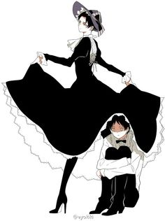 If you repost, credit the artist. Ereri, Eren Y Levi, Maid Outfit Anime, Anime Maid, Attack On Titan Ships, Attack On Titan Levi, Captain Levi, Bunny Outfit, Maid Dress