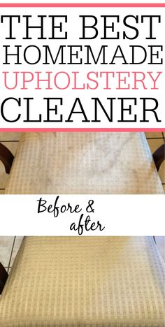 DIY Upholstery Cleanery
