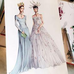 Eris Tran: Watercolor Illustration of Dolce & Gabbana, Alta Moda