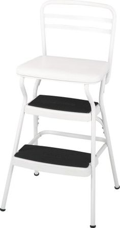 Cosco 11-130WHT Chair/Step Stool, White by Cosco