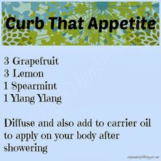 Curb That Appetite Blend ~ Topical and Diffuser ~ www.sparknaturals.com/?affiliates=110; Use coupon code REVIVE for an additional 10% off purchase at checkout.