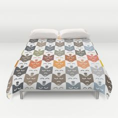 #dogs #pattern #husky #animal #pet #graphic #dog #fashion #style #colorful #color #colors #bedroom #home #duvetcovers