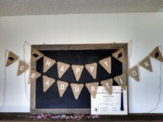 Happy Graduation Burlap Banner Triangle Flag Pennant Cap and Gown Bunting Graduation Party Sign on Etsy, $50.00
