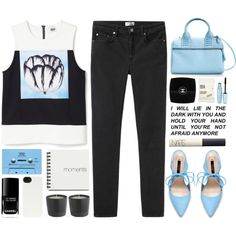 FIX YOU by tania-maria on Polyvore featuring Acne Studios, Zara, HEX, Chanel, NARS Cosmetics, Maybelline, Comodynes and CASSETTE