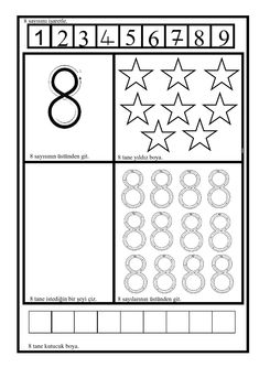 Numbers Preschool, Teaching Kindergarten, Kindergarten Worksheets, Preschool Activities, Activities For Kids, Things To Do Tomorrow, Learning To Write, Homeschool, Writing