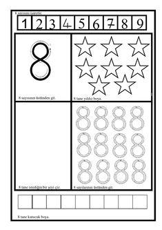 Numbers Preschool, Preschool Math, Teaching Kindergarten, Kids Math Worksheets, Preschool Activities, Things To Do Tomorrow, Learning To Write, Math For Kids, Special Education