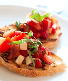 This is the yummiest bruschetta recipe, really!