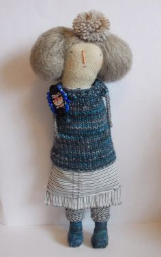 Daphne a mixed media art doll by maidolls on Etsy, £55.00