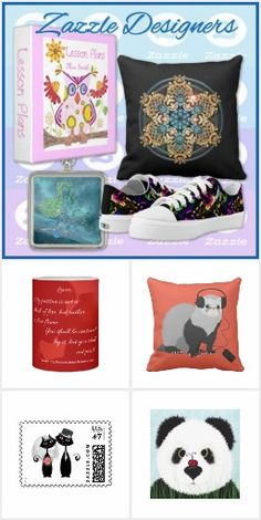 ZAZZLE DESIGNERS COLLECTION - This board is a collection of products from other wonderful designers here on Zazzle. @bluerose_design