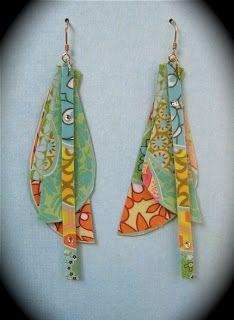 Bijoux de papier recyclé - OriginalBliss - Journal de l'perles Gem
