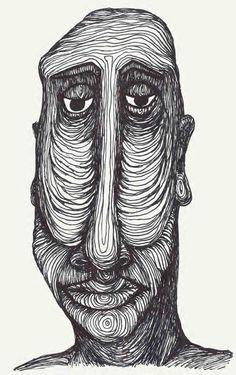 long face, fineliner on paper Weird Drawings, Weird Art, Art Drawings Sketches, Psychedelic Drawings, Trash Art, Arte Sketchbook, Funky Art, Hippie Art, Pics Art