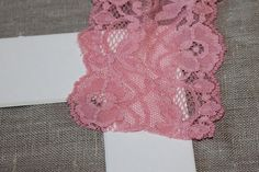 pretty lace on picture mat