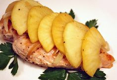Grilled Chicken with Apples and Honey