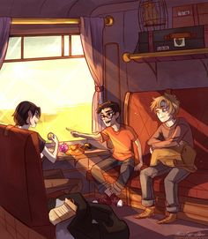 James, Remus and Sirius on their first days :'D - Imgur