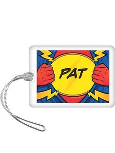Superhero Party Personalized Bag Tag