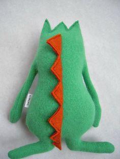 Stuffed Animal Monster Sweater Mint Green Wool by sweetpoppycat, $30.00