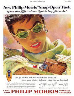 1954--Philip Morris shades by Edwin Georgi | Flickr - Photo Sharing!