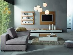 Modern and chic TV unit.