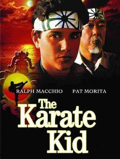 The Karate Kid starring Pat Morita and Ralph Macchio. ORIGINAL movie is amazing! Ralph Macchio was so dreamy! 90s Movies, Great Movies, Movies To Watch, The Karate Kid 1984, Karate Kid Movie, Iconic Movie Posters, Iconic Movies, Classic 80s Movies, Love Movie