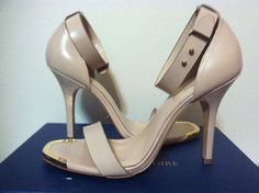 Pour La Victoire Yaya Dress Sandal Nude Box Calf Leather Heels Size 8.5 M #PourLaVictoire #FashionHeelsAnkleStrapSandals