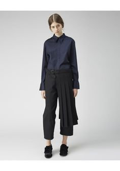 So, so good! Yohji Yamamoto / Pleated Wrap Skirt | La Garçonne