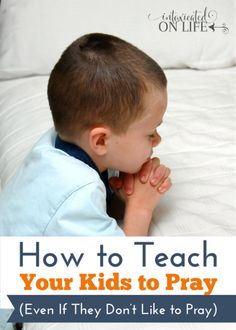 Would your kids rather play than pray? These are some tips on helping them out!