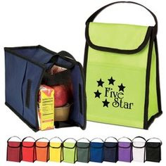 $1.89 each / 150 pieces, price includes a one-color imprint. Promotional Products Advertising Specialties Promo Items Tradeshow GiveAways Corporate Gifts - Nonwoven Lunch Bag - LB120 - www.InstantPromos.com - 888-259-9668