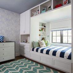 Globetrotter Blue Wallpaper, Contemporary, Boy's Room