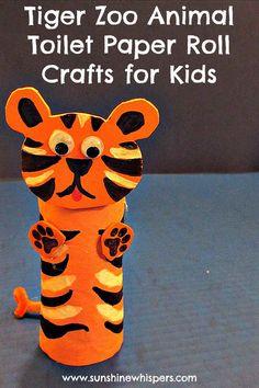 DIY tiger zoo animal toilet paper roll crafts for kids  http://creativekkids.com/make-it-mondays-diy-tiger-zoo-animal-toilet-paper-roll-craft/