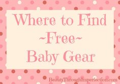 AWESOME! Every mama needs this! Where to find Free Baby Gear!!! These deals don't ever expire!!! Genius!  These are perfect #babyshower #gifts