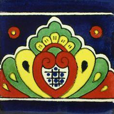 Traditional Mexican Border Tile - Concha – Mexican Tile Designs