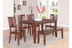 Parawood Furniture Dudley Mahogany Wood Seat Dining Bench | The Simple Stores Bench $109.00 Chair $99