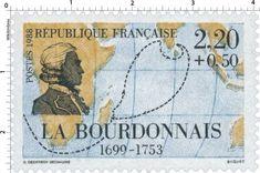 Timbre : 1988 LA BOURDONNAIS 1699-1753 | WikiTimbres
