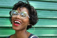 My imperfect Gap Teeth « Fashion Steele NYC Gap Teeth, Teeth Braces, Round Sunglasses, Sunglasses Women, Crooked Smile, Love Your Smile, Smile Teeth, Mind The Gap, Wearing Glasses